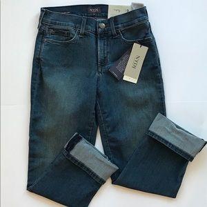 NWT NYDJ dayla wide cuff capri jeans size 0